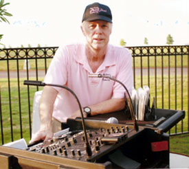 Longtime Memphis D-J Alex Ward provided all the oldies rock 'n' roll for the pool party.