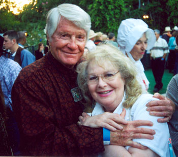 Robert Horton and Jan Shepard at a Sportsmen's Lodge Pre-Boot party in 2005.