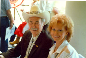 Eddie Dean reunited with his PRC leading lady Shirley Patterson at a Charlotte, North Carolina, Western Film Fair.