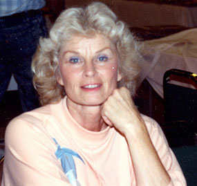 The beautiful Sheena Queen of the Jungle...Irish McCalla at a Beverly Garland Hotel autograph show in North Hollywood, CA.