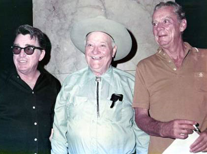 Lash LaRue, Max Terhune and Russell Hayden at the first Memphis Film Festival in 1972.