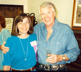 Robert Horton and WC's Donna Magers pose for the camera at the Toulumne County, Sonora, California, Wild West Film Fest in 1992.