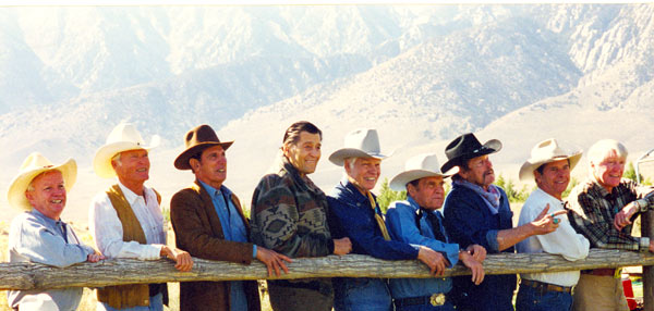 What a great cast at the Lone Pine Film Festival in October '03. (L-R) Ben Cooper, Ty Hardin, Michael Dante, Clint Walker, Kelo Henderson, Steve Mitchell, William Smith, Peter Brown, Robert Horton.