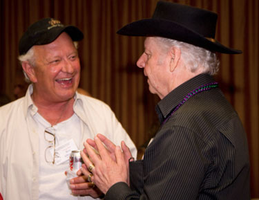 Old friends Rex Allen Jr. and Johnny Western.