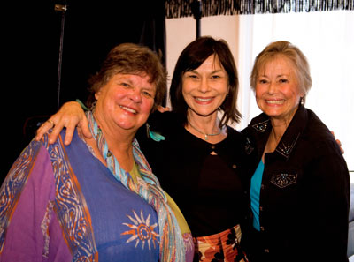 "The ladies of ""The Virginian"": Sara Lane, Diane Roter, Roberta Shore."