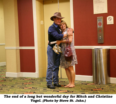 The end of a long but wonderful day for Mitch and Christine Vogel.  (Photo by Steve St. John.)