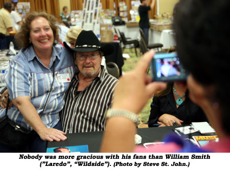 "Nobody was more gracious with his fans than William Smith (""Laredo"", ""Wildside"").  (Photo by Steve St. John.)"