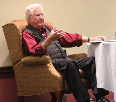 James Best delighted the full house Friday night audience with his stories and recollections of his fabulous career. He incorporated film clips from many of his movies and TV shows.