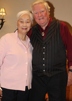"Lisa Lu and James Best. They worked together in Columbia's ""The Mountain Road"" ('60)."