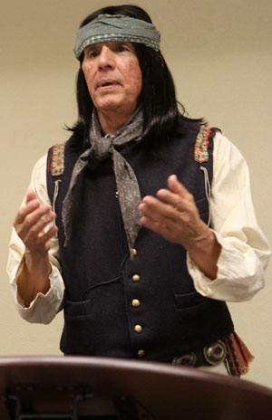 You could hear a pin drop in the audience as Rudy Ramos portrayed Geronimo.