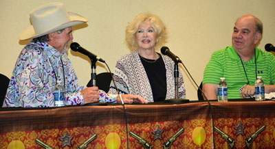 Panel discussion with Buck Taylor and Connie Stevens moderated by Ray Nielsen.