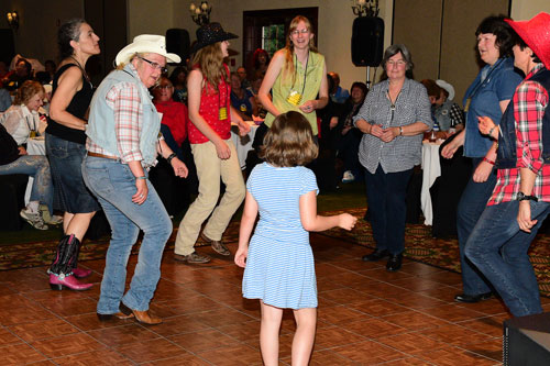 A Thursday night '50s Rock 'n' Roll Dance Party always gets the festival off to a good time.