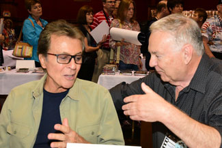 James Darren and Boyd Magers deep in conversation.