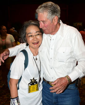 Bob Fuller with his loyal fan for many years from Japan, Atsuko Yamagouchi.