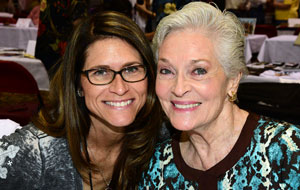 Lee Meriwether and her stuntgirl daughter Lesley Aletter.