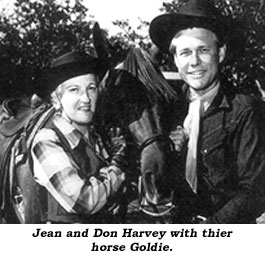 Jean and Don Harvey with their horse Goldie.