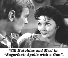 "Will Hutchins and Mari in ""Sugarfoot: Apollo With a Gun""."