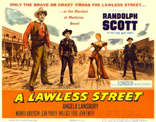 """A Lawless Street"" lobby card."