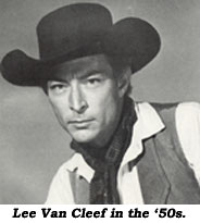 Lee Van Cleef in the '50s.