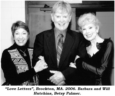 """Love Letters"", Brockton, MA. 2006. Barbara and Will Hutchins, Betsy Palmer."