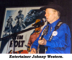Entertainer Johnny Western.