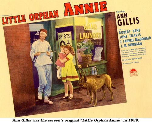 """Ann Gillis was the screen's original """"Little Orphan Annie"""" in 1938."""