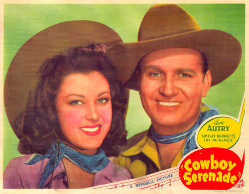 Fay McKenzie and Gene Autry.
