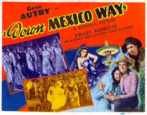 "Title card for ""Down Mexico Way""."