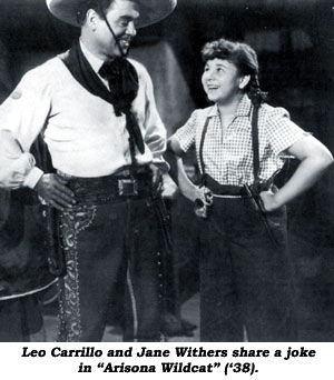 "Leo Carrillo and Jane Withers share a joke in ""Arizona Wildcat"" ('38)."