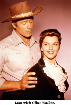 Lisa with Clint Walker.
