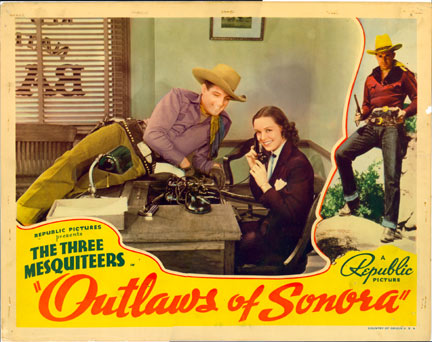 """Outlaws of Sonora"" Bob Livingston and Jean Joyce."
