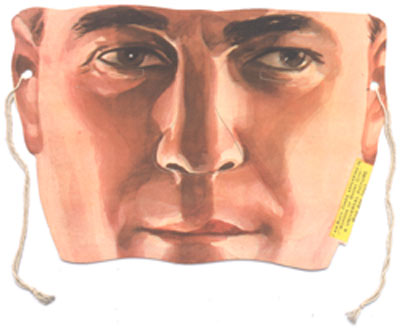 "Rare Buck Jones paper eye-mask, in color. ""I am Buck Jones appearing in 'Gordon of Ghost City', a Universal Picture"""