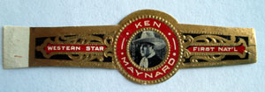 Ken Maynard original cigar band. Unused