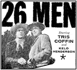 "TV GUIDE ad for ""26 Men""."