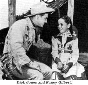 Dick Jones and Nancy Gilbert as Buffalo Bill Jr. and Calamity.