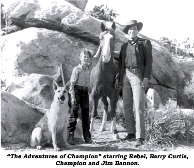 """The Adventures of Champion"" starring Rebel, Barry Curtis, Champion and Jim Bannon."