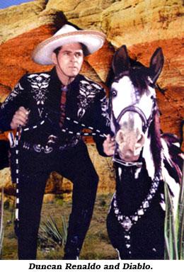 Duncan Renaldo As Cisco With His Horse Diablo