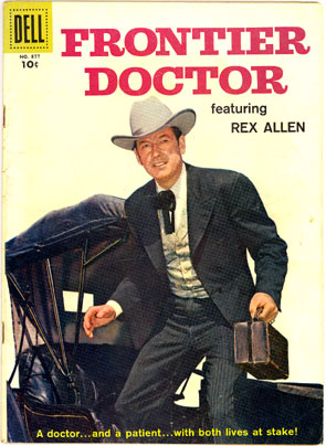 Dell Comics' one issue of FRONTIER DOCTOR FC#877.