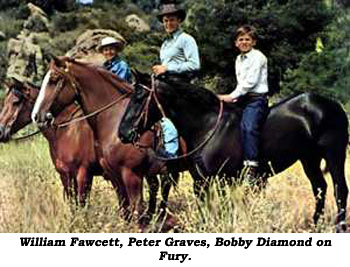 William Fawcett, Peter Graves, and Bobby Diamond on Fury.