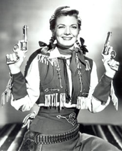 Gail Davis as Annie Oakley.