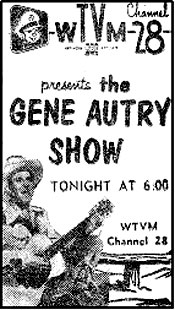 "TV GUIDE ad for The Gene Autry Show""."