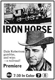 "TV GUIDE ad for ""Iron Horse""."