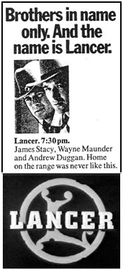 "TV GUIDE ad for ""Lancer"""