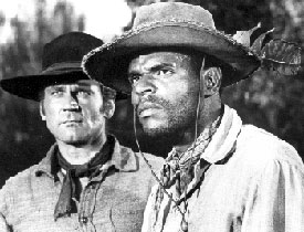 Head shot of Don Murray and Otis Young.
