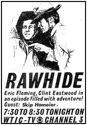 """Rawhide"" ad from TV GUIDE."