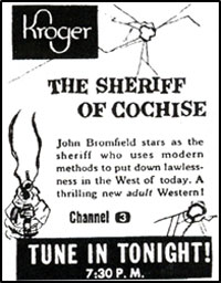 "Ad for ""Sheriff of Cochise""."