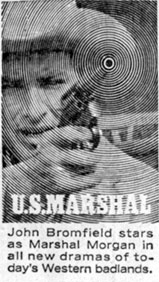 "Ad for ""U.S. Marshal""."