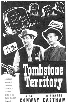 "TV GUIDE ad for ""Tombstone Territory""."