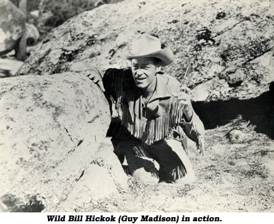 Wild Bill Hickok (Guy Madison) in action.