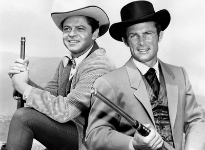 Ross Martin as Artemus Gordon and Robert Conrad as James West.